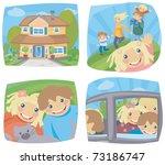 happy family. | Shutterstock .eps vector #73186747