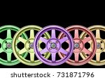 alloy cars 5 color aluminum on... | Shutterstock . vector #731871796