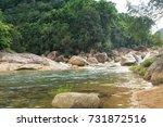 Panorama Of Mountain River...