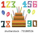 Numbered Birthday Candles And...