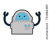 electronic robot character icon | Shutterstock .eps vector #731886385