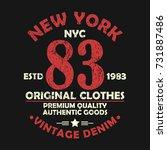 new york vintage graphic for... | Shutterstock .eps vector #731887486