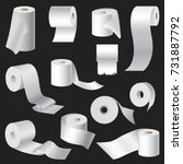 realistic toilet paper and... | Shutterstock .eps vector #731887792
