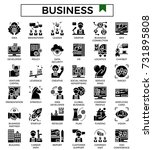 business and finance glyph icon ... | Shutterstock .eps vector #731895808