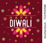 happy diwali festival design | Shutterstock .eps vector #731903488