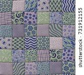 patchwork quilt seamless... | Shutterstock . vector #731912155