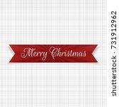 vector christmas festive ribbon ...   Shutterstock .eps vector #731912962
