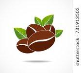 coffee bean icon  vector | Shutterstock .eps vector #731913502