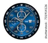 blue clock face wristwatch... | Shutterstock .eps vector #731914126