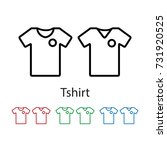 tshirt icon vector illustration. | Shutterstock .eps vector #731920525