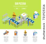 assembly line isometric 3d... | Shutterstock .eps vector #731925316