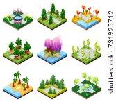 public park landscapes... | Shutterstock .eps vector #731925712