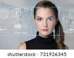 facial recognition system... | Shutterstock . vector #731926345