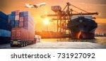 industrial container cargo... | Shutterstock . vector #731927092