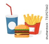 burger drink in a disposable... | Shutterstock .eps vector #731927662