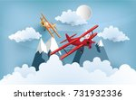 illustration of an airplane... | Shutterstock .eps vector #731932336