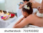 young couple during massage... | Shutterstock . vector #731933302