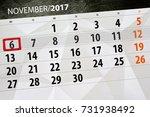 Small photo of November 6 calendar