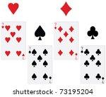 game cards vector   Shutterstock .eps vector #73195204