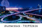 seoul international fireworks... | Shutterstock . vector #731952616