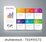 folder infographic design... | Shutterstock .eps vector #731955172