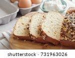 healthy almond bread  keto ... | Shutterstock . vector #731963026