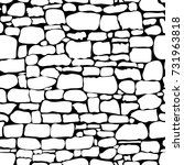 stones seamless pattern. vector....   Shutterstock .eps vector #731963818