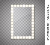 glass frame with lights... | Shutterstock .eps vector #731965762