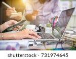 business team meeting. photo... | Shutterstock . vector #731974645