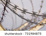 Net Wall And Razor Barbed Wire  ...