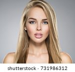 portrait of  young woman with... | Shutterstock . vector #731986312