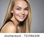 portrait of  young woman with...   Shutterstock . vector #731986348