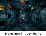 sci fi grungy escape room...