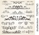 fine line set of design... | Shutterstock . vector #731992765