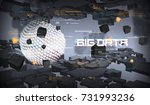 big data abstract visualization.... | Shutterstock .eps vector #731993236