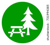 illustration of picnic table... | Shutterstock .eps vector #731994385