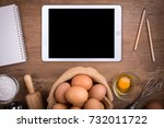 tablet isolated white clipping... | Shutterstock . vector #732011722
