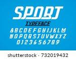 retro style modern sport... | Shutterstock .eps vector #732019432