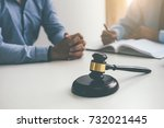 judge gavel with justice... | Shutterstock . vector #732021445