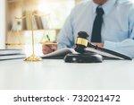 judge gavel with justice... | Shutterstock . vector #732021472