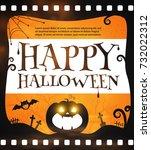 happy halloween spooky... | Shutterstock .eps vector #732022312