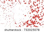 light red vector greeting card... | Shutterstock .eps vector #732025078