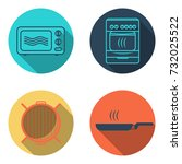 cooking icon set | Shutterstock .eps vector #732025522