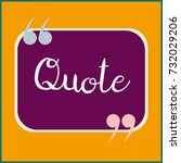 new quote rectangle form for... | Shutterstock .eps vector #732029206