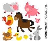 Stock vector animal character design 732033646