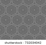 modern geometric seamless... | Shutterstock .eps vector #732034042