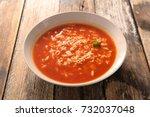 alphabet noodle soup | Shutterstock . vector #732037048
