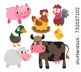 animals character design | Shutterstock .eps vector #732037102