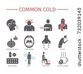 common cold. flu season.... | Shutterstock .eps vector #732039145
