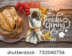 thanksgiving day concept.... | Shutterstock . vector #732040756
